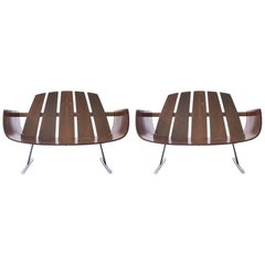 Pair of Jorge Zalszupin Presidencial Lounge Chairs in Brazilian Rosewood, 1960s