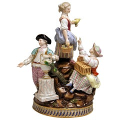 Meissen Gardener Figurines Model F 94 Michel Victor Acier made circa 1830-1840
