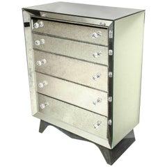Glamorous Custom Distressed Mirror Tall Dresser