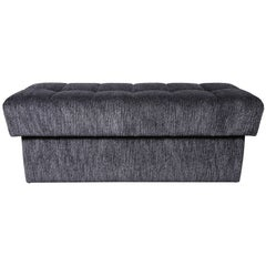 Custom Tufted Bench with Interior Storage
