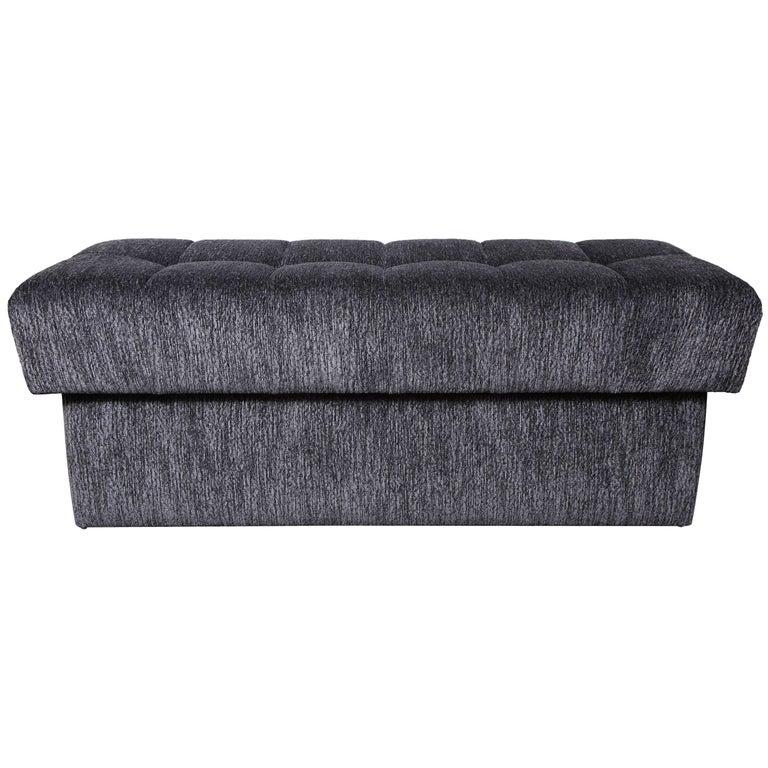 Tremendous Custom Tufted Bench With Interior Storage Inzonedesignstudio Interior Chair Design Inzonedesignstudiocom