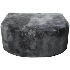 Custom Genuine Shearling Ottoman