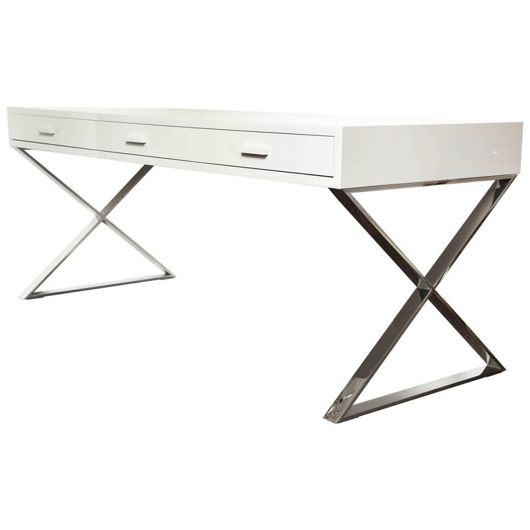 Custom Oversized High Gloss Lacquer Desk