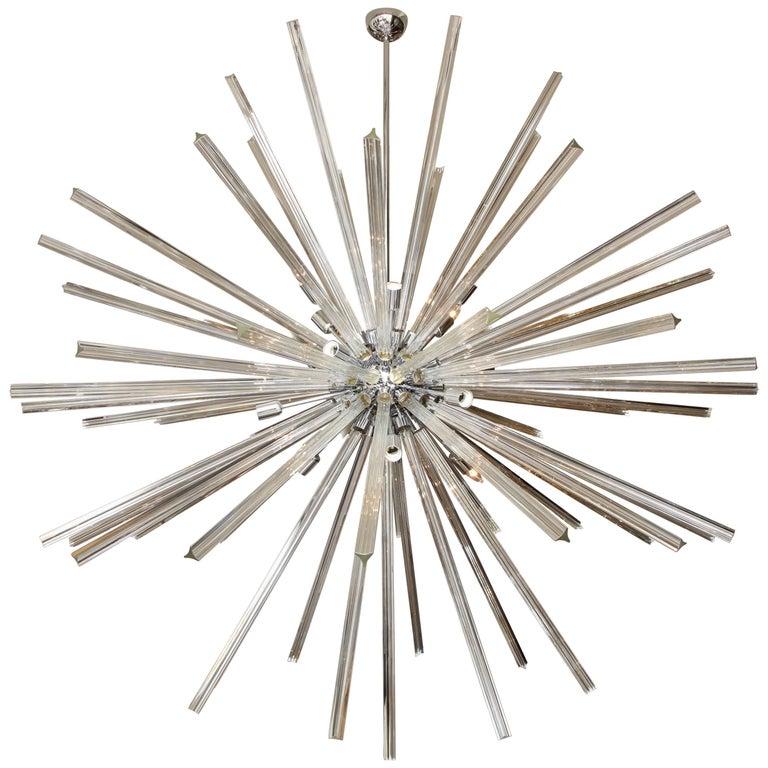 Monumental Italian Glass Rod Sputnik