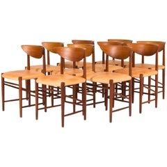 Set of Ten Dining Chairs by Peter Hvidt and Orla Mølgaard