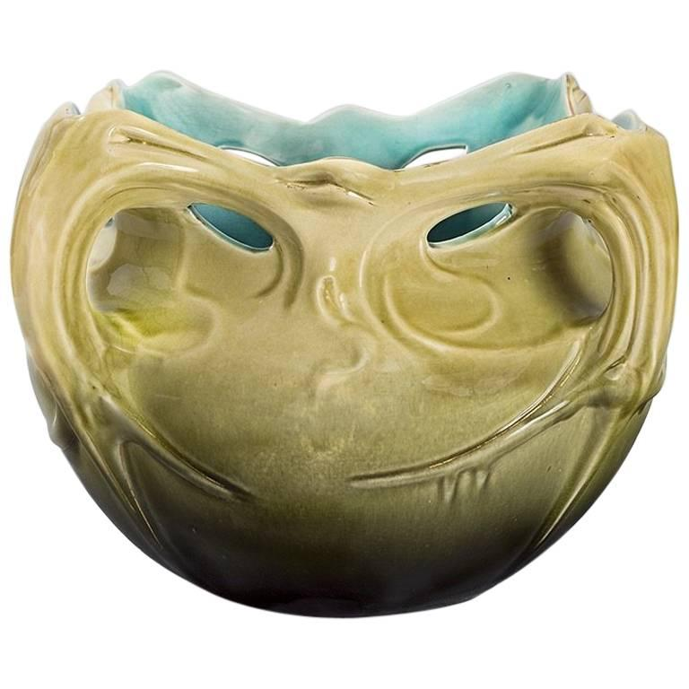 """French Art Nouveau Ceramic """"Chalmont"""" Planter by Hector Guimard"""