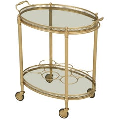 Brass Colored French Tea Cart