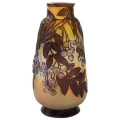 French Art Nouveau Cameo Vase by Émile Gallé