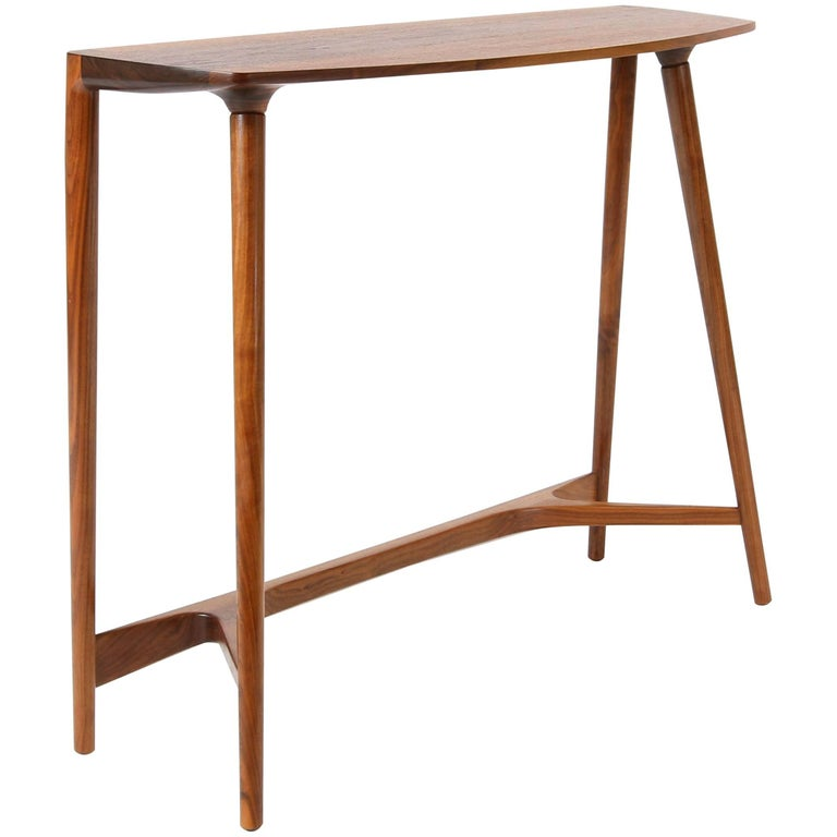 Bristol Console Table, Midcentury Inspired Hardwood Console by Studio DUNN