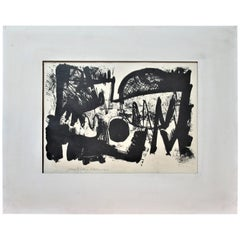 1960's American Abstract Lithograph by William Sellers
