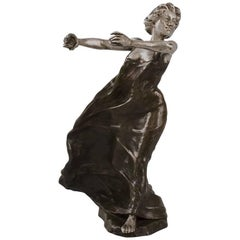 French Art Nouveau Bronze Sculpture by Carabin
