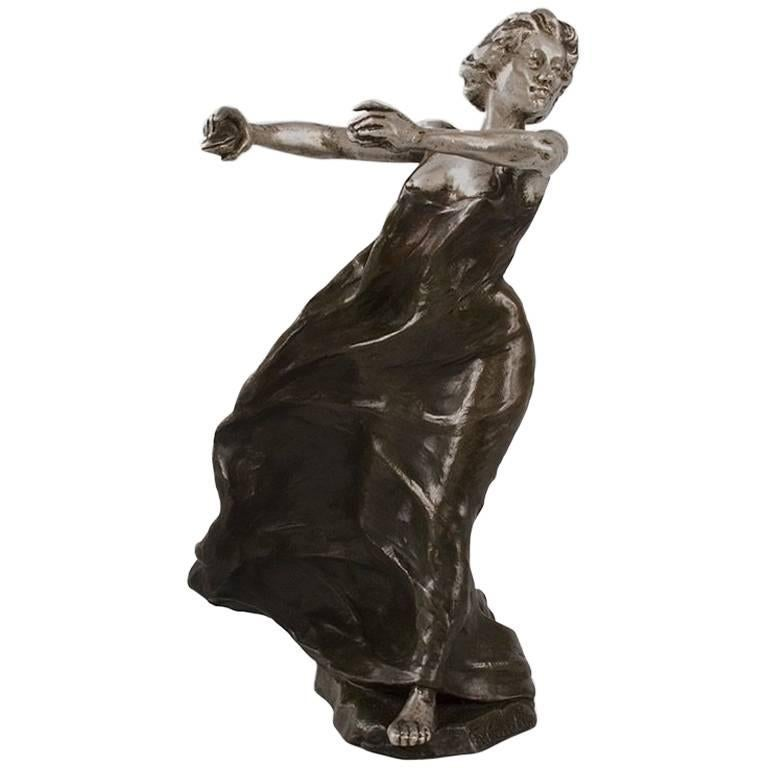 French Art Nouveau Bronze Sculpture by Carabin For Sale