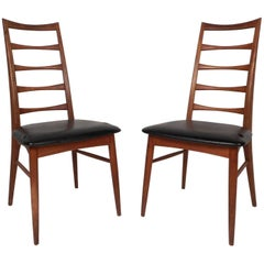 Pair of Danish Mid-Century Modern Dining Chairs by Koefoeds Hornslet