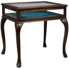 Bijouterie Glazed Display Table, Specimen Cabinet, Late 20th Century