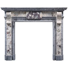 Antique 19th Century Chimneypiece in the George II Style in Exquisite Marbles