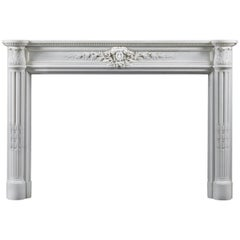 Superb 18th Century Louis XV Antique Statuary Marble Fireplace Surround
