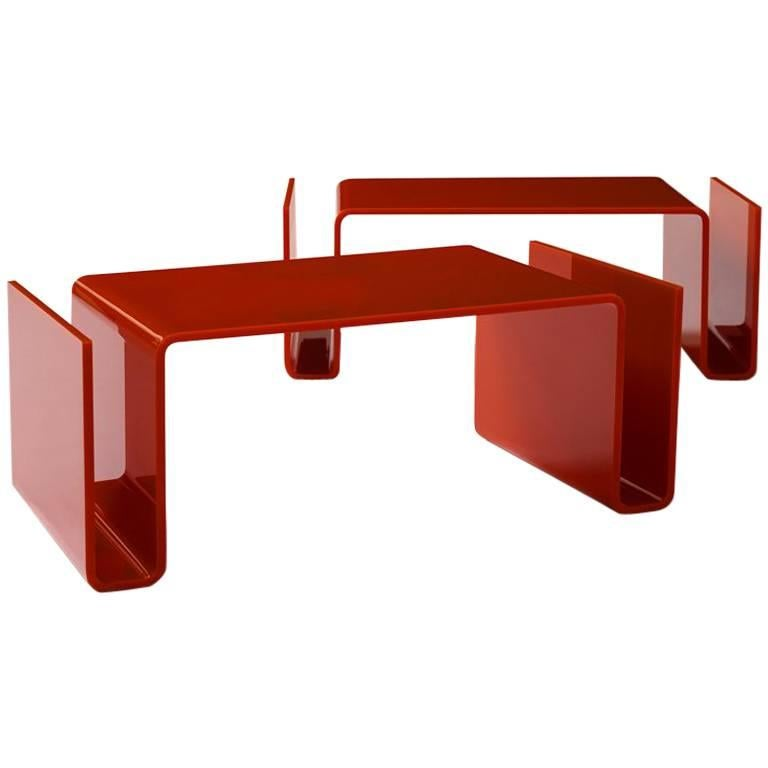 T-01 Coffee Table / Magazine Rack by Superstudio For Sale