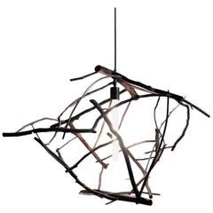 Scatter/Gather Pendant Light in Found Ocean-Washed Branches