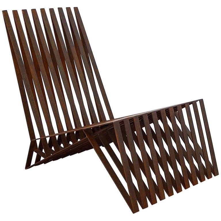 """Logan"" Contemporary Lounge Chair by Brazilian Designer Flavio Franco  For Sale"