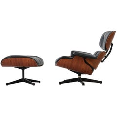 Original Lounge Chair and Ottoman by Charles Eames Herman Miller, Rosewood