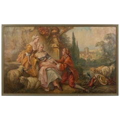 Large French Oil Painting after Boucher