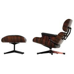 Original Lounge Chair and Ottoman, Charles Eames Herman Miller Rosewood Armchair