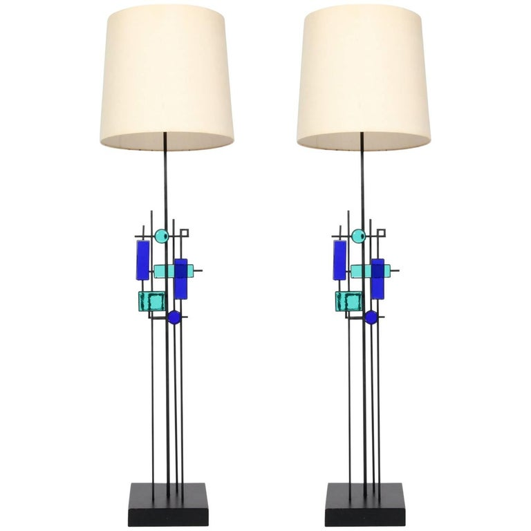 Pair of Floor Lamps by Svend Aage Holm Sørensen For Sale