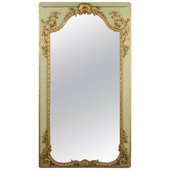 Louis XVI French Trumeau Mirror