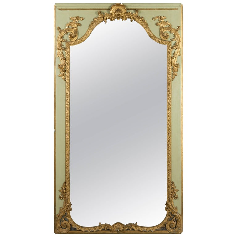 Louis XVI French Trumeau Mirror For Sale