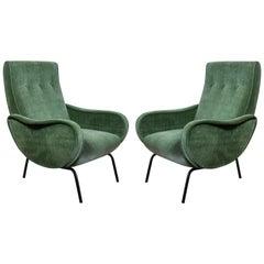 Midcentury Italian Arflex Chairs by Marco Zanuso