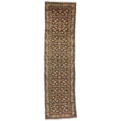 Antique Persian Malayer Carpet Runner with Traditional Modern Style
