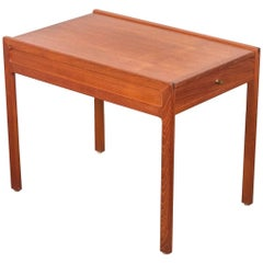 Vintage Danish Modern Bedside Table with Drawer