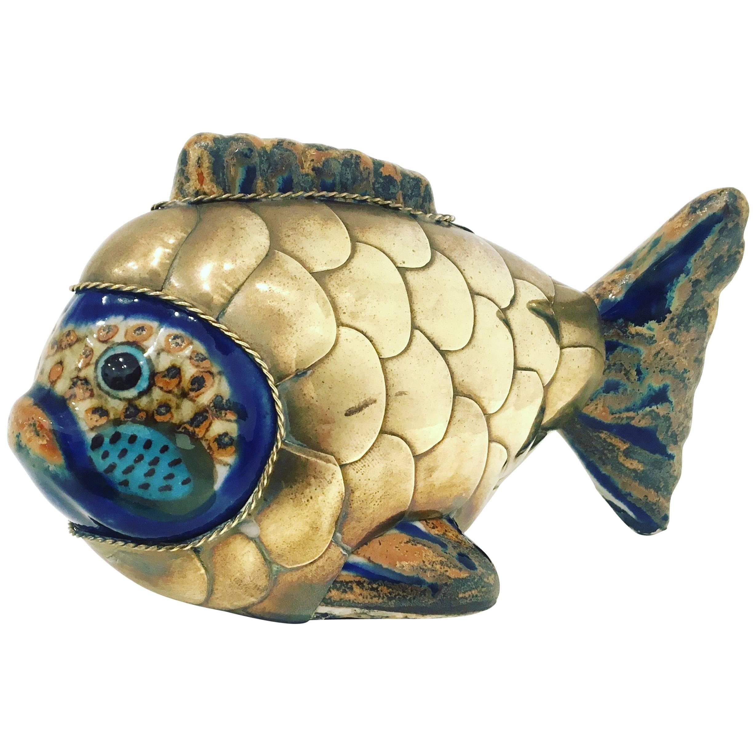 Hollywood Regency Solid Polished Brass Sailfish Wall Sculpture at ...