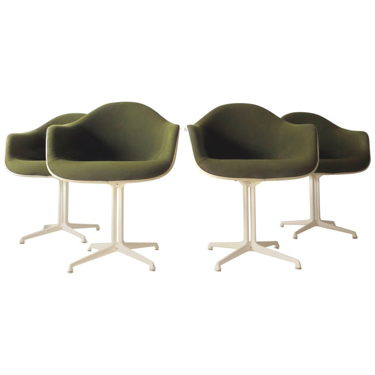 La Fonda DAL 1960s Herman Miller Armchairs by Girard & Charles Eames Set of Four