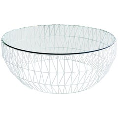 Sleek, Glass, Round Coffee Tabletop by Bend Goods
