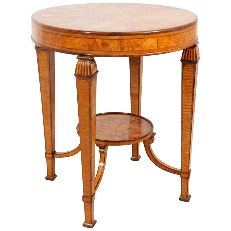 Art Deco Walnut and Rosewood Side Table For Sale