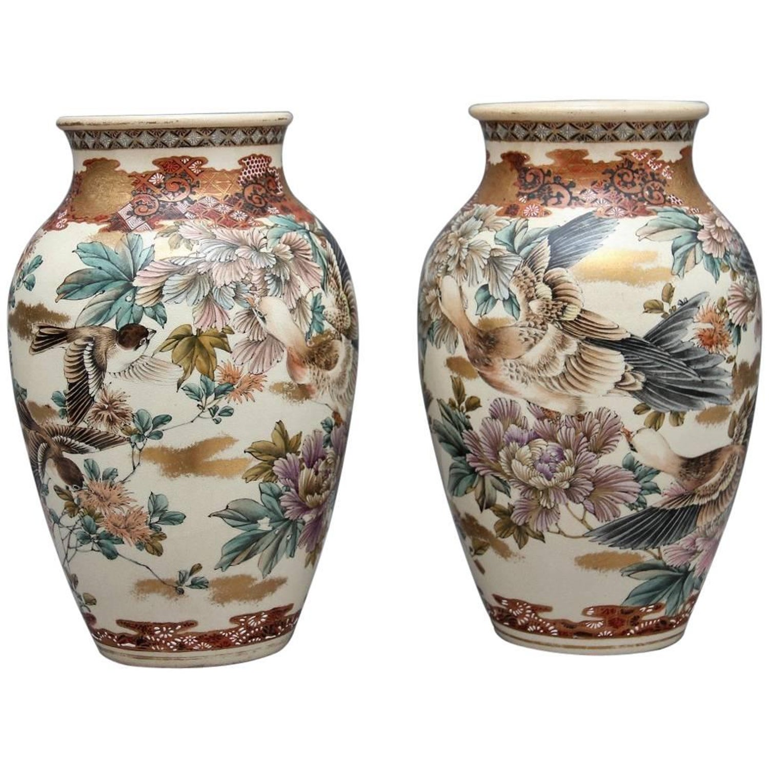 Large pair of antique japanese imari vases for sale at 1stdibs pair of 19th century japanese vases reviewsmspy