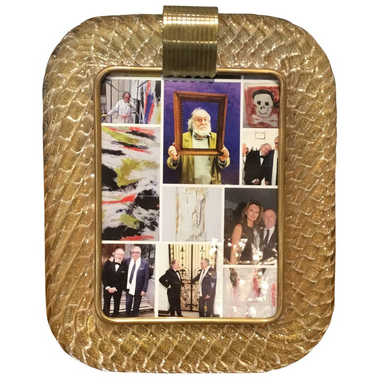 Beautiful Barovier and Toso Glass Picture Frame