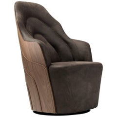 Couture Armchair in walnut