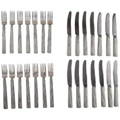 Bernadotte Silverware Georg Jensen Complete Lunch / Fruit /Child Service for 14P