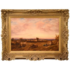 """Feeding Sheep"" by John Linnell"