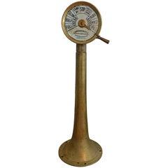 Nautical Antique Ship Telegraph Instrument Brass, 1900s