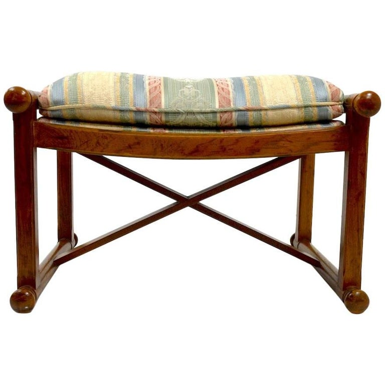 """Pair of """"X"""" Base Stools, Ottomans, Footrests"""
