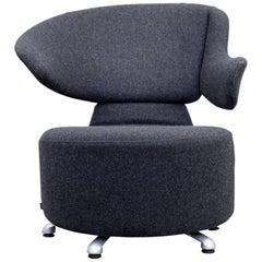 Cassina Canta Designer Chair Set Anthracite Grey Fabric