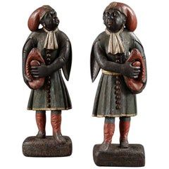 Pair of Dutch East Indian 18th Century Figures