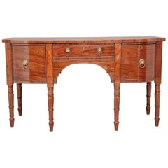 19th Century Mahogany Inlaid Bow Ended Sideboard