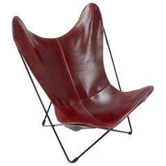 Nice Leather Hardoy Butterfly Chair