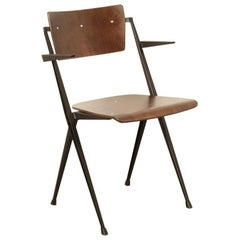 Wim Rietveld Pyramide Chair with Armrests