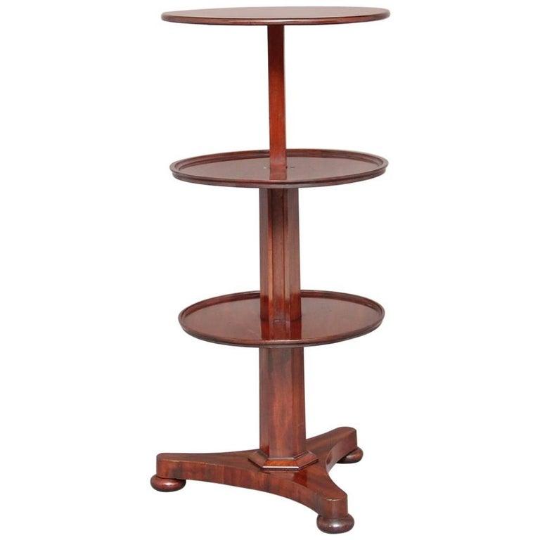 19th Century Mahogany Circular Dumbwaiter For Sale