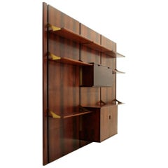 Italian Rosewood Wall Unit by Mobilia